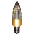 Bombilla de vela Daylight LED E14 / E17 Gold C30 para 4W / 6W / 8W / 10W
