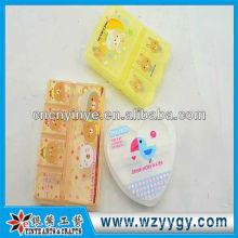 Новый дизайн милый пластиковые ящики для таблеток, oem печати Коробка пилюльки