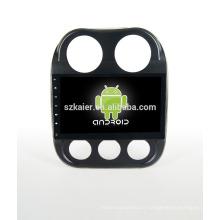 Usine directement! 10.1 pouces sans DVD + 1024 * 600 android voiture dvd lecteur pour Jeep Compass + OEM + quad core!