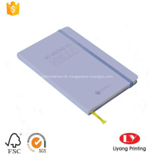 Paper cover diary notebook with elastic band