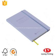 Caderno de diário de capa de papel com elástico