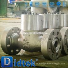 Válvula de retención de acero fundido de alta presión Didtek con brida