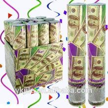 Dollar Geld Konfetti Party Popper / Gun Salute