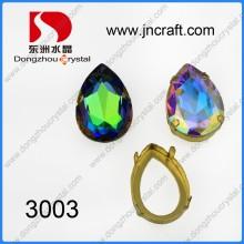 Punto de cristal de fantasía de piedra con ajustes Chaton (DZ-3003)