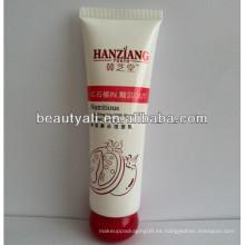 Tubo plástico de embalaje cosmético con tapa especial