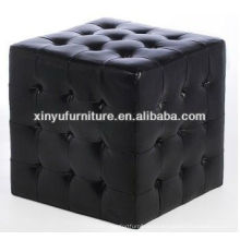 One seat square stool with buttons top XY0311
