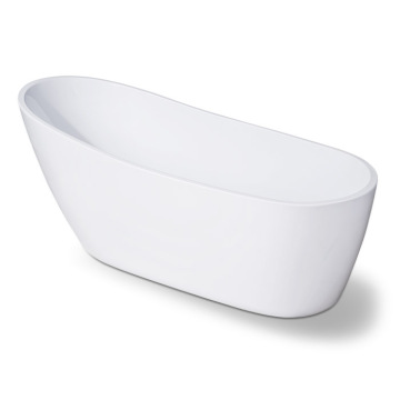 Klasik White Acrylic Slipper Flat Bottom Bathtub