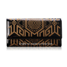 Hot Sell Vintage Handmade Embroidery Vertical Type Lady Purse (ZX10135)