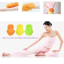 Körper-Massager, der Massage-Handschuhe für Hautpflege abnimmt