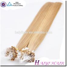 Extensión micro del pelo del anillo de la Virgen de las extensiones del cabello humano del precio al por mayor