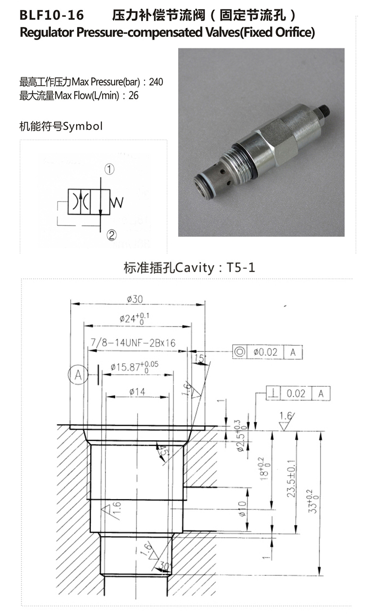 Hydraulic Fuel Adjustment Symbol Pressure Regulator Valve