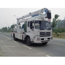 Dongfeng high horsepower tow behind boom lift vehicle