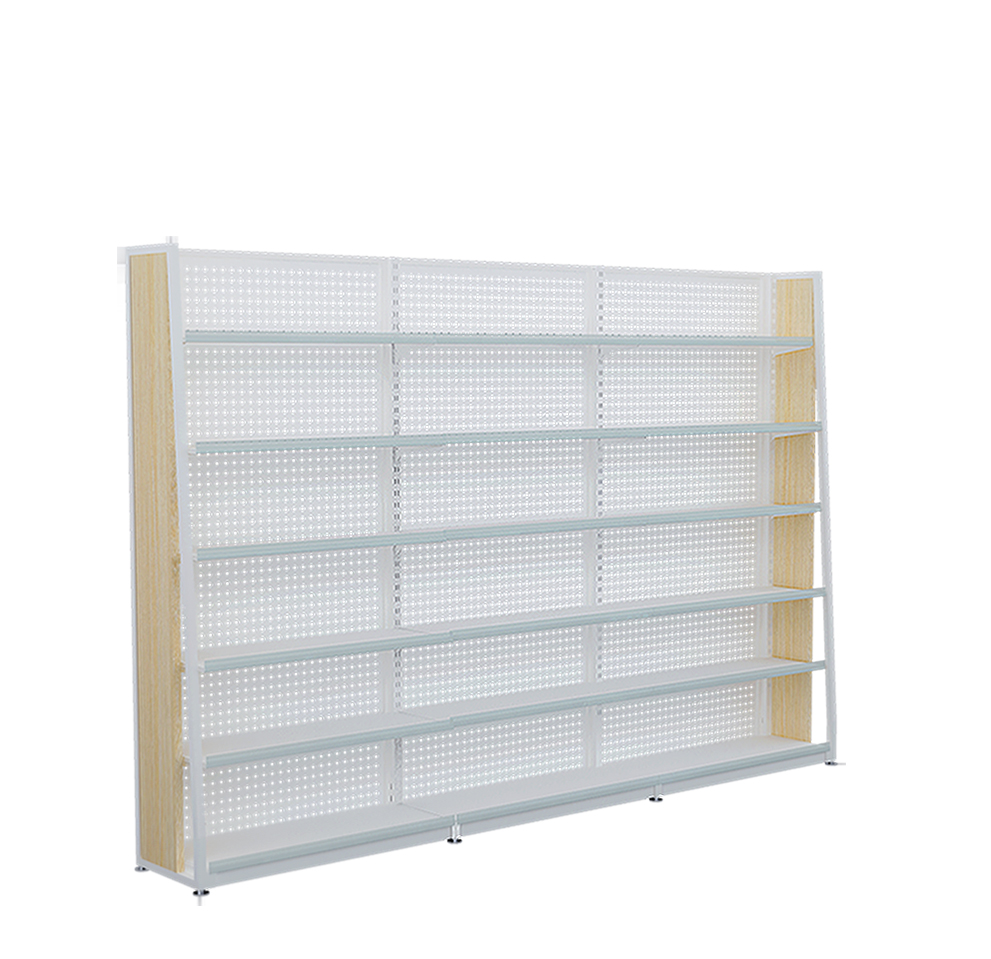 Aangepaste Supermarkt Steel Houten Display Planken