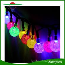 Солнечной энергии 5 м 20 хрустальный шар светодиодные строки Фея Водонепроницаемый свет лампы для Рождественский фестиваль свадьба украшения сад