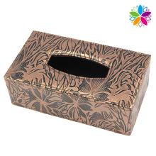 Fashion Design Leather Tissue Box (ZJH066)