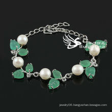New Design White Simulated Pearl Bracelet Factory Price Fashion Bracelets & Bangles 2013 New Design
