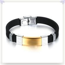 Stainless Steel Jewelry Rubber Bracelet Silicone Bracelet (LB496)
