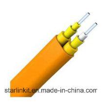 Single Mode Duplex Flat Tight Buffered LSZH Indoor Fiber Cable