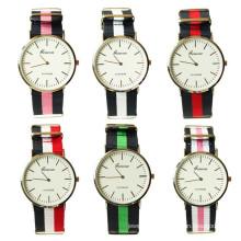 china supplier wholesale 6colors Nylon fabric men wristwatch Wathes for men