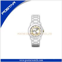 2016 moda novo estilo de cerâmica relógio de quartzo relógio à prova d'água