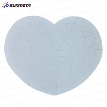 Direct Factory Hot Selling Paper Custom Sublimation Blank heart shaped Jigsaw Puzzle