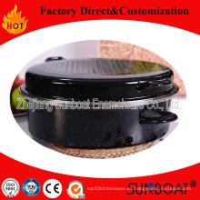 Esmalte sunboat pesados alrededor de utensilios de cocina de barbacoa asador / aparato de cocina