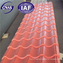 Color Single Sheet Used for House Roof