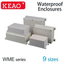 50 tamanhos diferentes plástico ABS à prova de poeira à prova d'água IP65 caixa de junção Shell universal projeto elétrico gabinete cinza