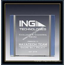 "Crystal Award Plaques / Trilogy Plaque 6"" H (NU-CW724)"