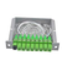 Tipo de inserção 1x8 plc divisor de fibra óptica FTTH divisor de tipo cassete com SC APC fibra ótica pigtail