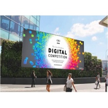 Pantalla LED de cartelera publicitaria fija a todo color de P8mm
