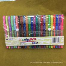 Ensemble de stylos Glliter 24 couleurs (# 108), stylo à encre gel