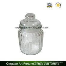 Porte-pot de bougie en verre pour bougie remplie