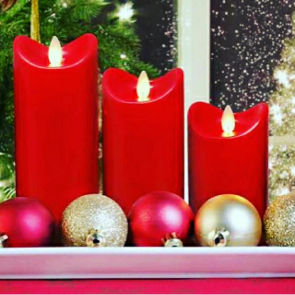 real wax led pillar candles
