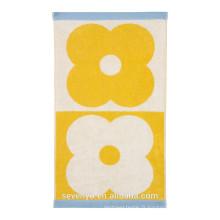 Spot Serviette Domino fleur - Jaune - Serviette de bain, serviette de bain Ht-062