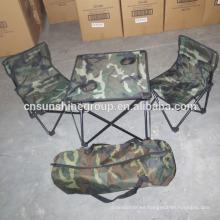 Camo al aire libre por mayor de sillas y mesas plegables