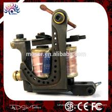 Latão de cobre chinês handmade novidade máquina tatuagem forro e shader