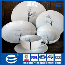 Japanese style coupe shape 20pcs/30pcs porcelian dinnerware for home daily use