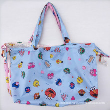 Heavy Duty Expandable Folding Tote Bag Reusable Polyester Foldable Grocery Shopping Bag