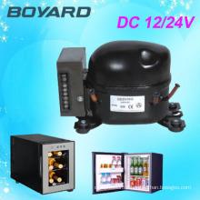 R134A BOYARD 12v/24v DC compressor fridge freezer function with 12v 24v battery for car