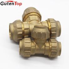 GutenTop высокое качество Латунь компрессионные фитинги для Тройник для PEX-Аль-PEX трубам