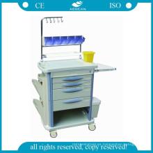 AG-NT004B3 estación de trabajo hospitalaria ABS material de transporte médico carrito de enfermería