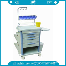AG-NT004B3 CE ISO mobile ABS hospital nursing medical treatment cart