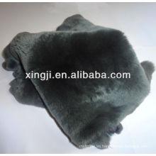 Teñido de piel de conejo rex de color gris para la piel rex de prendas de vestir