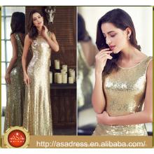 ASM 01 Elegant Real Sample Mermaid Gold Sequin V neck short sleeves Mother of the Bride Dresses 2017