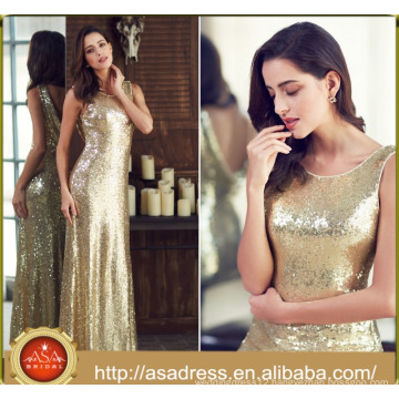 ASM 01 Elegant Real Sample Mermaid Gold Sequin V neck short sleeves Mother of the Bride Dresses 2017