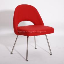 Sillas de comedor de tela roja contemporánea