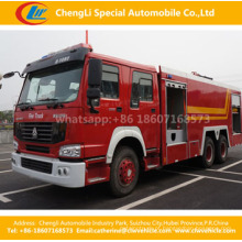 Caminhão do sistema de extinção de incêndios do fogo da espuma da água de HOWO