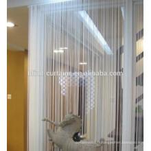 Rideau à cordes 100% polyester en une seule couleur