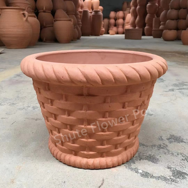 Red Clay Flower Pots For Garden Decorations